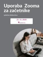 Uporaba Zooma za začetnike (spletna delavnica)